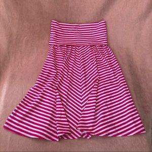 Juicy Couture Spandex Striped Strapless Dress